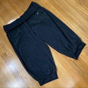 Nike Dri-Fit Foldover Black Jogger Capri